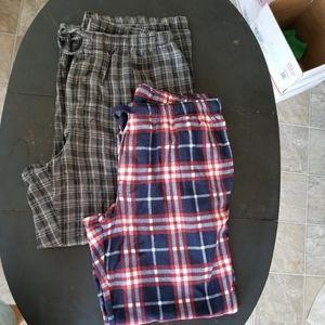 Set of 2 Croft and Barrow Fleece lounge Pants L